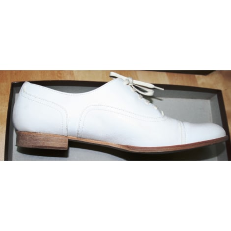 663e5e4b4857a1 Chaussures à lacets MANFIELD Blanc, blanc cassé, écru
