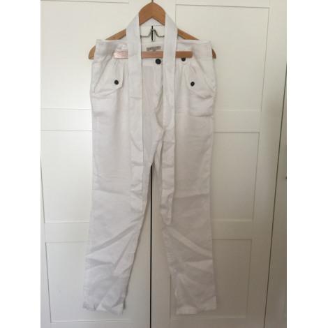 Pantalon carotte BEST MOUNTAIN Blanc, blanc cassé, écru