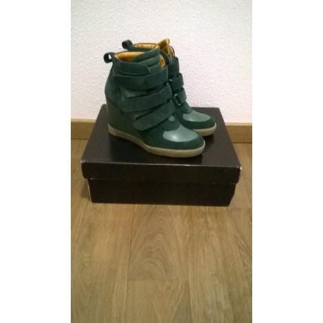 Bottines & low boots à compensés BEE FLY Vert
