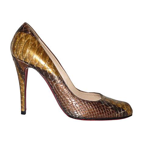 Pumps, Heels CHRISTIAN LOUBOUTIN Fifi Golden, bronze, copper