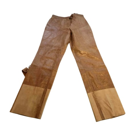 Pantalon droit BALLY Beige, camel