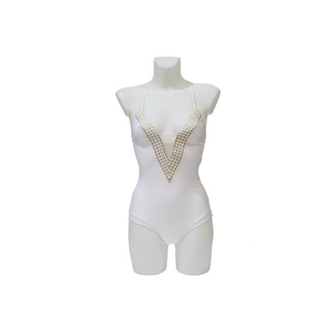 maillot de bain une pi ce la perla 40 l t3 blanc 6419886. Black Bedroom Furniture Sets. Home Design Ideas