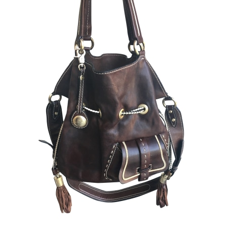 Sac à main en cuir LANCEL 1er Flirt Marron