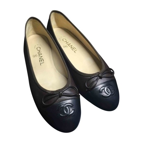 Ballerines CHANEL Marron