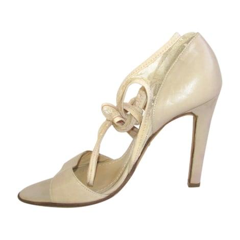 Sandales à talons JOHN GALLIANO Beige, camel