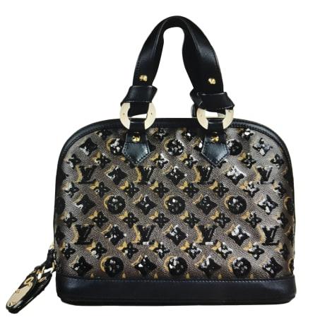 Leather Handbag LOUIS VUITTON Alma Brown