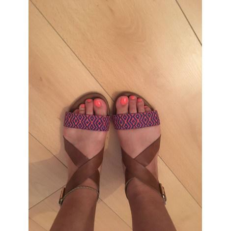 Sandales plates  H&M Marron
