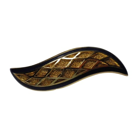 Broche BALENCIAGA Doré, bronze, cuivre