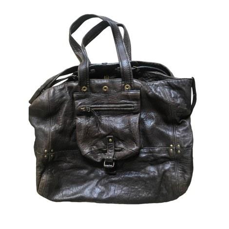 Leather Handbag JEROME DREYFUSS Gray, charcoal