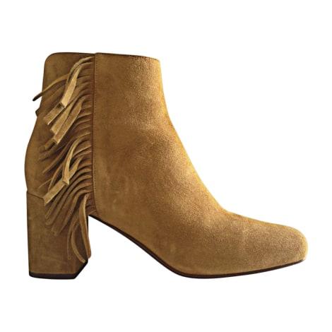 Cowboy Ankle Boots SAINT LAURENT Beige, camel
