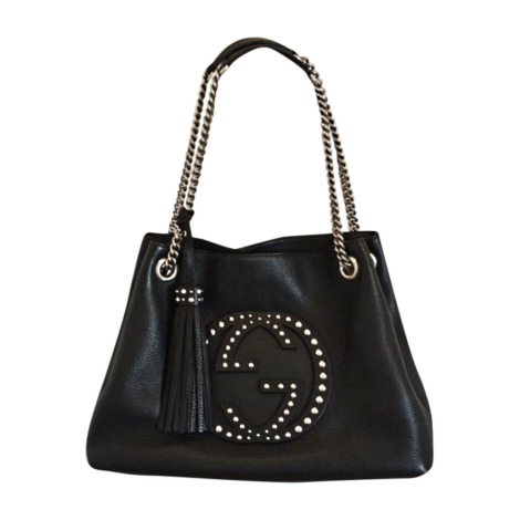 Leather Handbag GUCCI Black