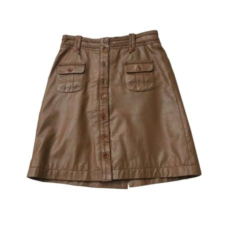 Mini Skirt PEPE JEANS Beige, camel