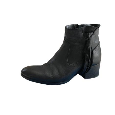 bottines low boots talons atelier voisin 37 noir vendu par planchonisa 6671061. Black Bedroom Furniture Sets. Home Design Ideas