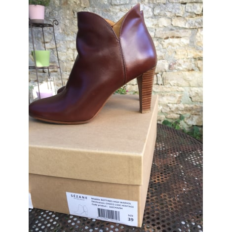 4ff73c0fc97c High Heel Ankle Boots SÉZANE 39 brown very good sold by Amandinedine ...