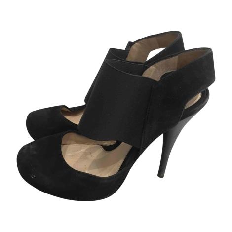 Sandales à talons FENDI Noir