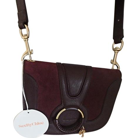 Leather Shoulder Bag SEE BY CHLOE Red, burgundy