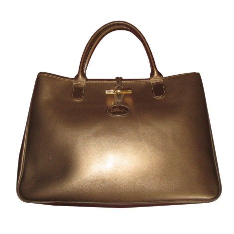 Leather Handbag LONGCHAMP Golden, bronze, copper