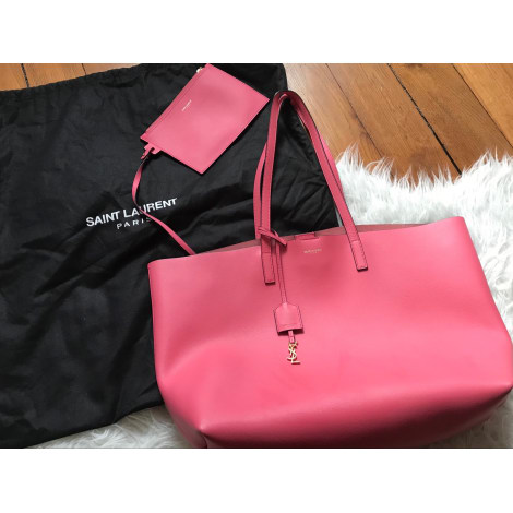 Leather Handbag SAINT LAURENT Pink, fuchsia, light pink