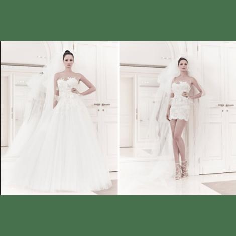 Robe de mariée ZUHAIR MURAD Blanc, blanc cassé, écru