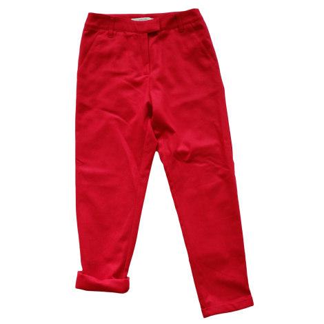 Pantalon carotte SESSUN Rouge, bordeaux
