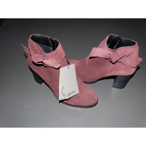 Bottines & low boots à talons VERO MODA Rouge, bordeaux