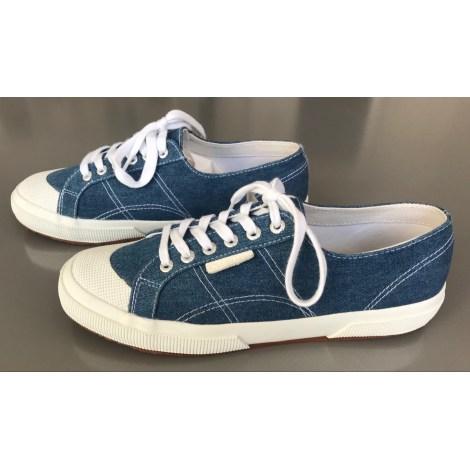 Baskets SANDRO Bleu, bleu marine, bleu turquoise