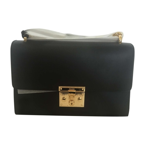 Leather Shoulder Bag GUCCI Black