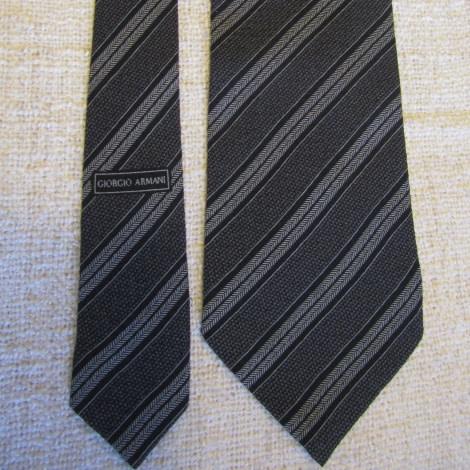 Cravate ARMANI noir et gris