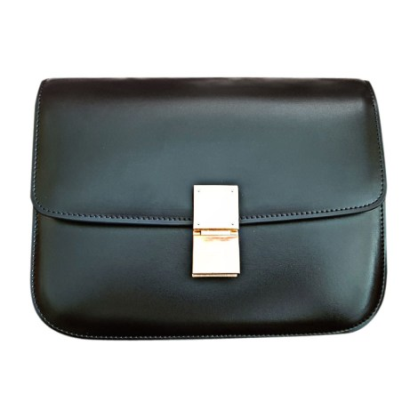 Leather Shoulder Bag CÉLINE Black