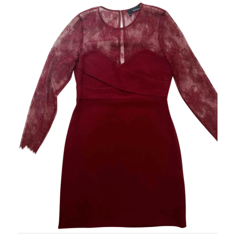 Robe courte THE KOOPLES Rouge, bordeaux
