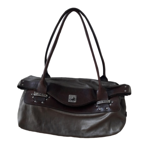 Sac à main en cuir DIESEL Marron