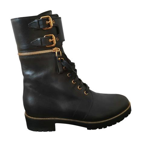 Bottines & low boots motards SERGIO ROSSI Noir