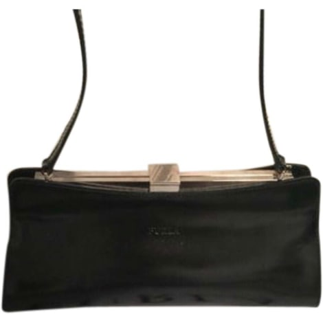 Leather Clutch FURLA Black