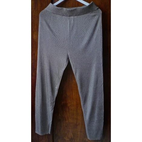 Pantalon large GABI LAUTON Beige, camel