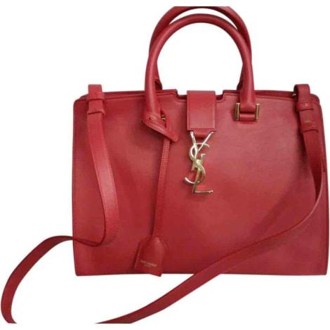 Leather Handbag YVES SAINT LAURENT Red, burgundy