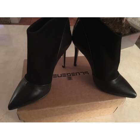 bluegenex stivali stivale in pelle nero tacco 4 5 cm