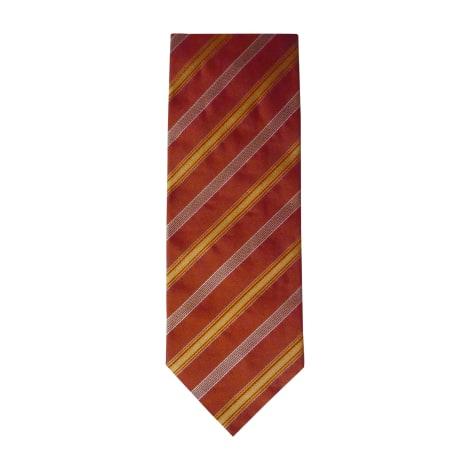 Cravate HUGO BOSS Doré, bronze, cuivre