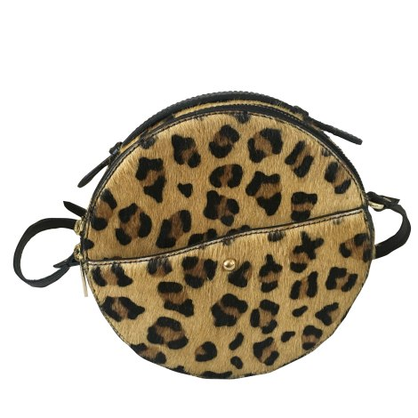 Leather Shoulder Bag PETITE MENDIGOTE Animal prints