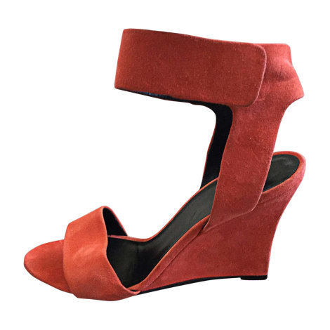 Wedge Sandals CÉLINE Corail