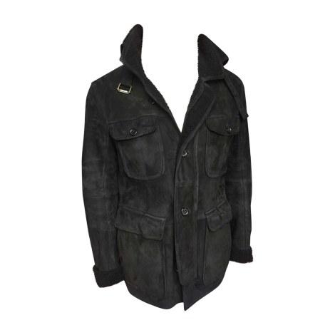Blouson, veste en fourrure YVES SAINT LAURENT Noir