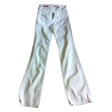 Jeans évasé, boot-cut GUESS Blanc, blanc cassé, écru