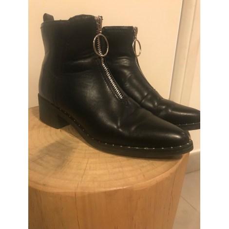 Bottines Low Boots Plates Kiabi 36 Noir 7304863
