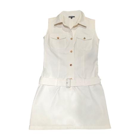 Robe courte BURBERRY Blanc, blanc cassé, écru