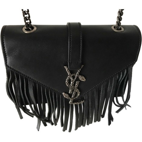 Borsa a tracolla in pelle SAINT LAURENT Nero