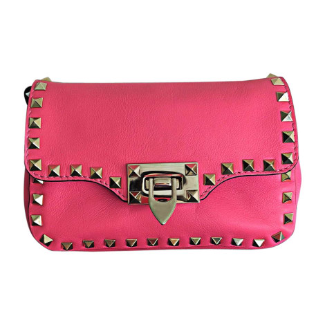 Leather Shoulder Bag VALENTINO Pink, fuchsia, light pink