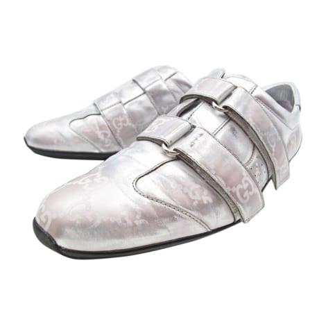 Sneakers GUCCI Silberfarben, stahlfarben