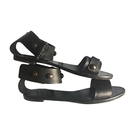 Flat Sandals LANVIN Black