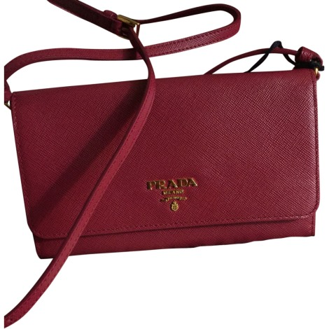 Leather Clutch PRADA pink new sold by Timta 36525278 - 7519744 dd478d8cd6