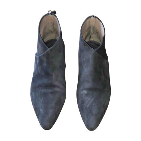 Flat Ankle Boots MIU MIU Gray, charcoal