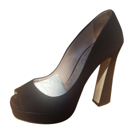 Peep-Toe Pumps MIU MIU Black